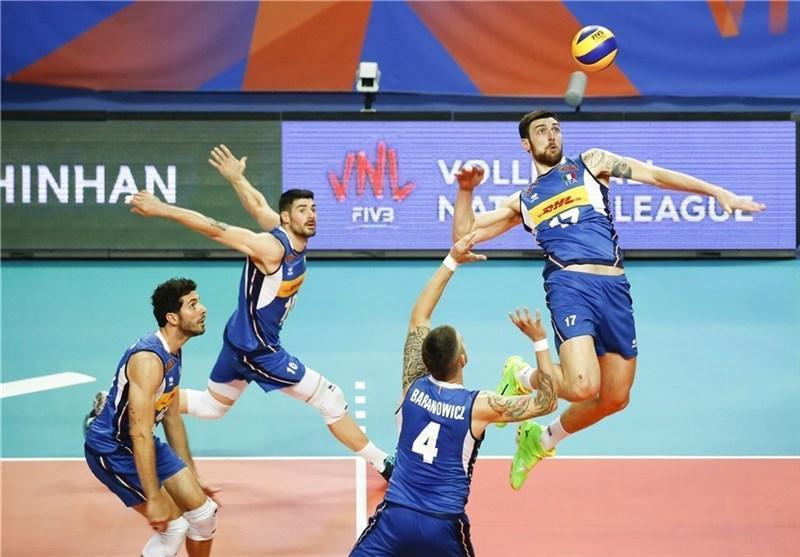 والیبال قهرمانی دنیا، پیروزی ایتالیا و بلغارستان در دیدارهای افتتاحیه