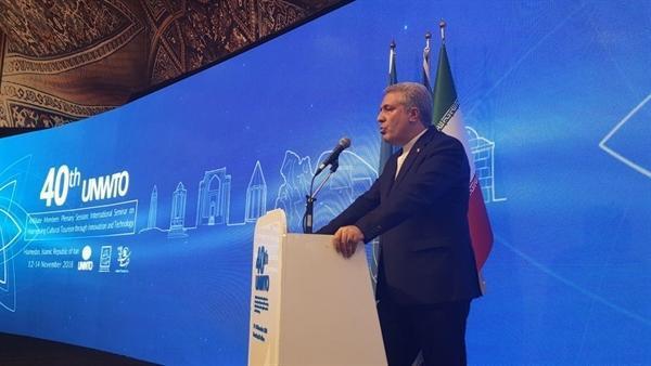 مونسان در مراسم افتتاحیه چهلمین نشست اعضای وابسته سازمان جهانی گردشگری: رویدادهای بین المللی گردشگری انرژی مضاعفی به صنعت توریسم ایران تزریق نموده است