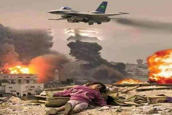 تداوم یورش جنگنده های ائتلاف سعودی به مناطق مختلف یمن