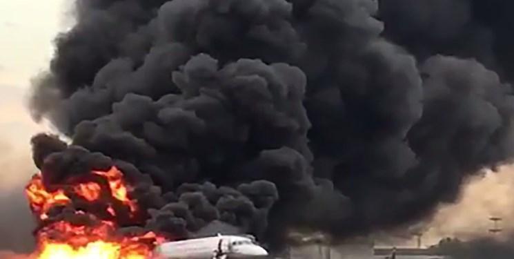 شمار تلفات آتش سوزی هواپیمای سوپرجت روسی به 41 نفر افزایش یافت