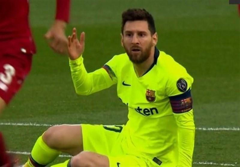 بارسلونا بدون لیونل مسی آنفیلد را ترک کرد
