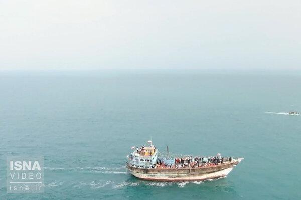 مواج شدن خلیج فارس از جاسک تا شرق تنگه هرمز
