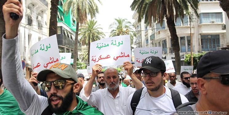 تظاهرات مردم الجزائر در میان تدابیر شدید امنیتی