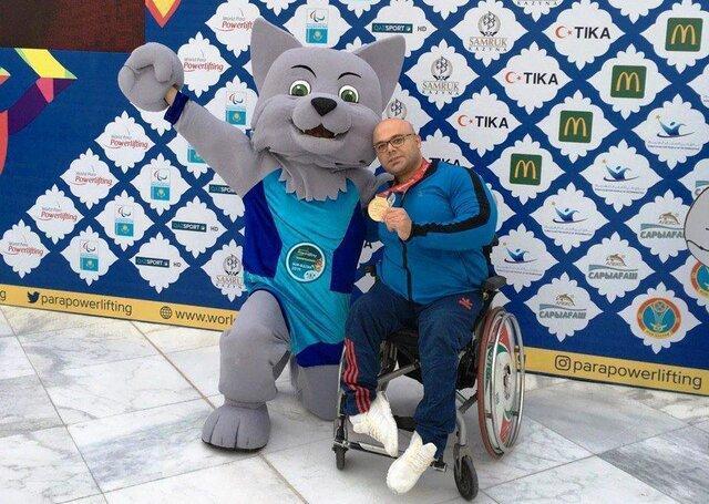 دومین مدال طلای وزنه برداری معلولان در قهرمانی دنیا