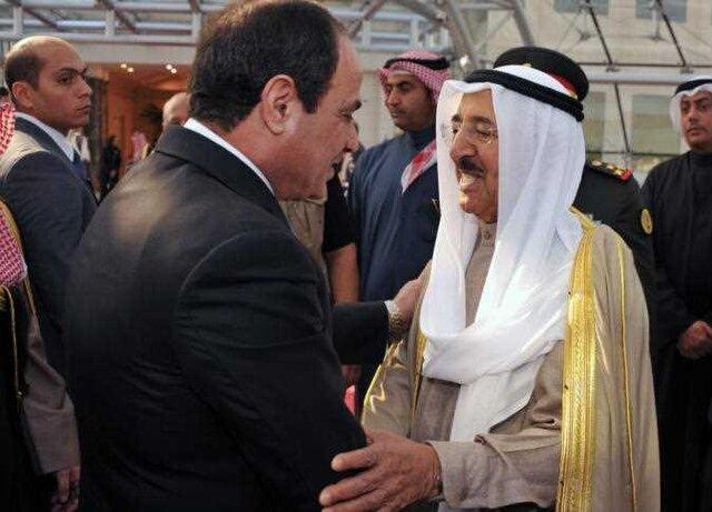 دیدار سیسی با امیر کویت، شیخ الصباح راهی واشنگتن می گردد