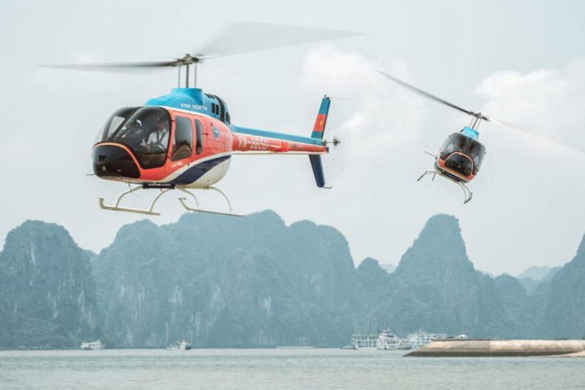 افتتاح تورهای هوایی بر فراز خلیج هالونگ، ویتنام