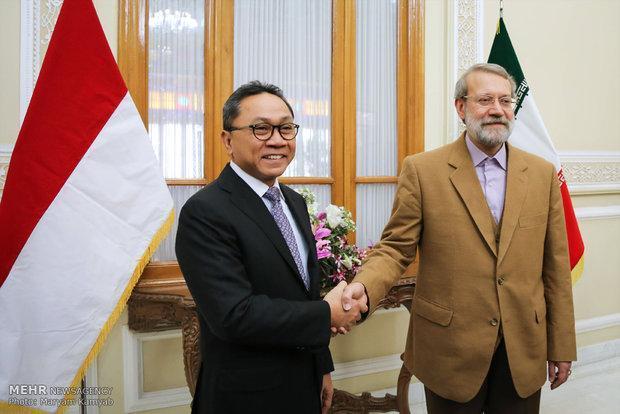 لاریجانی با رئیس شورای مشورتی اندونزی دیدار کرد