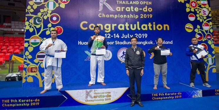 درخشش کاراته کار تبریزی در مسابقات بین المللی تایلند