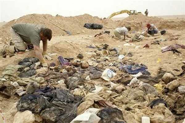 کشف گور جمعی در غرب عراق