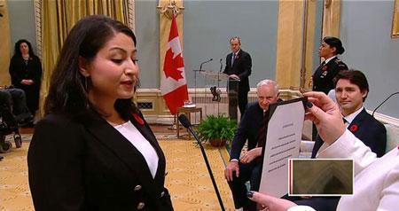 زن افغان در کانادا وزیر شد