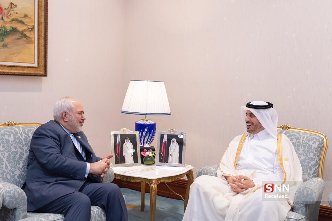 دیدار نخست وزیر و وزیر کشور دولت قطر با ظریف