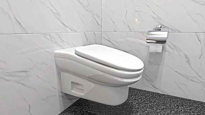 اختراع نوعی توالت کج برای کاهش زمان سپری شده کارمندان در سرویس های بهداشتی!