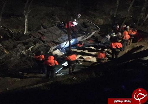 سقوط اتوبوس به ته دره با 19 کشته در محور سوادکوه، تصاویر