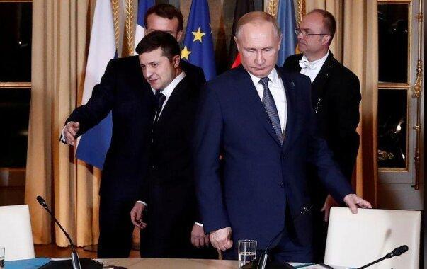 رایزنی پوتین و زلنسکی درباره درگیری های شرق اوکراین