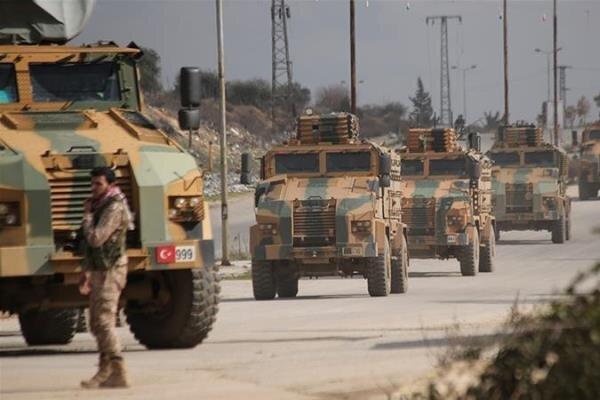 ورود ستون نظامی جدید ارتش ترکیه به ادلب سوریه