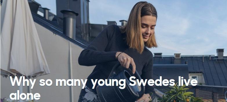 چرا جوانان سوئدی تنها زندگی می نمایند؟