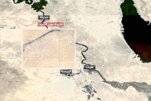 تحرکات گسترده نظامیان آمریکایی در داخل پایگاه عین الاسد