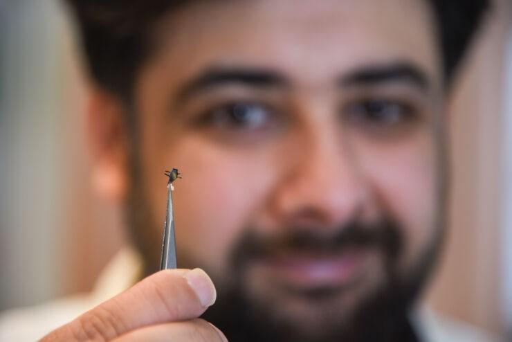 ساخت کوچک ترین میکروروبات با پرینتر 3بعدی