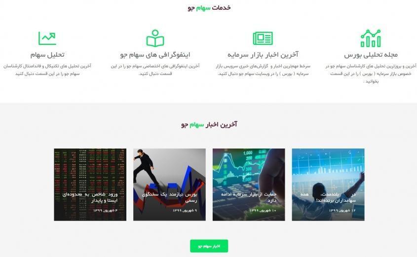 سهام جو ، مرجع آموزش ، تحلیل و آنالیز بازار بورس ایران