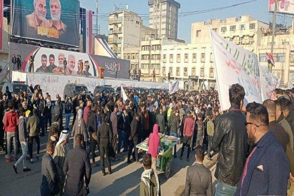 هزاران شهروند عراقی به سمت میدان التحریر بغداد حرکت کردند