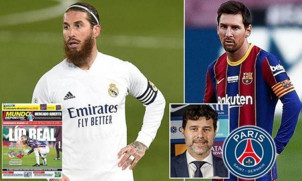 کاپیتان های رئال مادرید و بارسلونا در یک تیم
