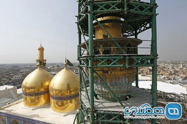 پروژه تثبیت و مقاوم سازی گلدسته حرم امام جواد خاتمه یافت