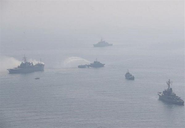 حضور کشتی های نظامی روسیه در منطقه رزمایش در دریای سیاه